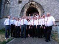 The Choir outside All Saints Church